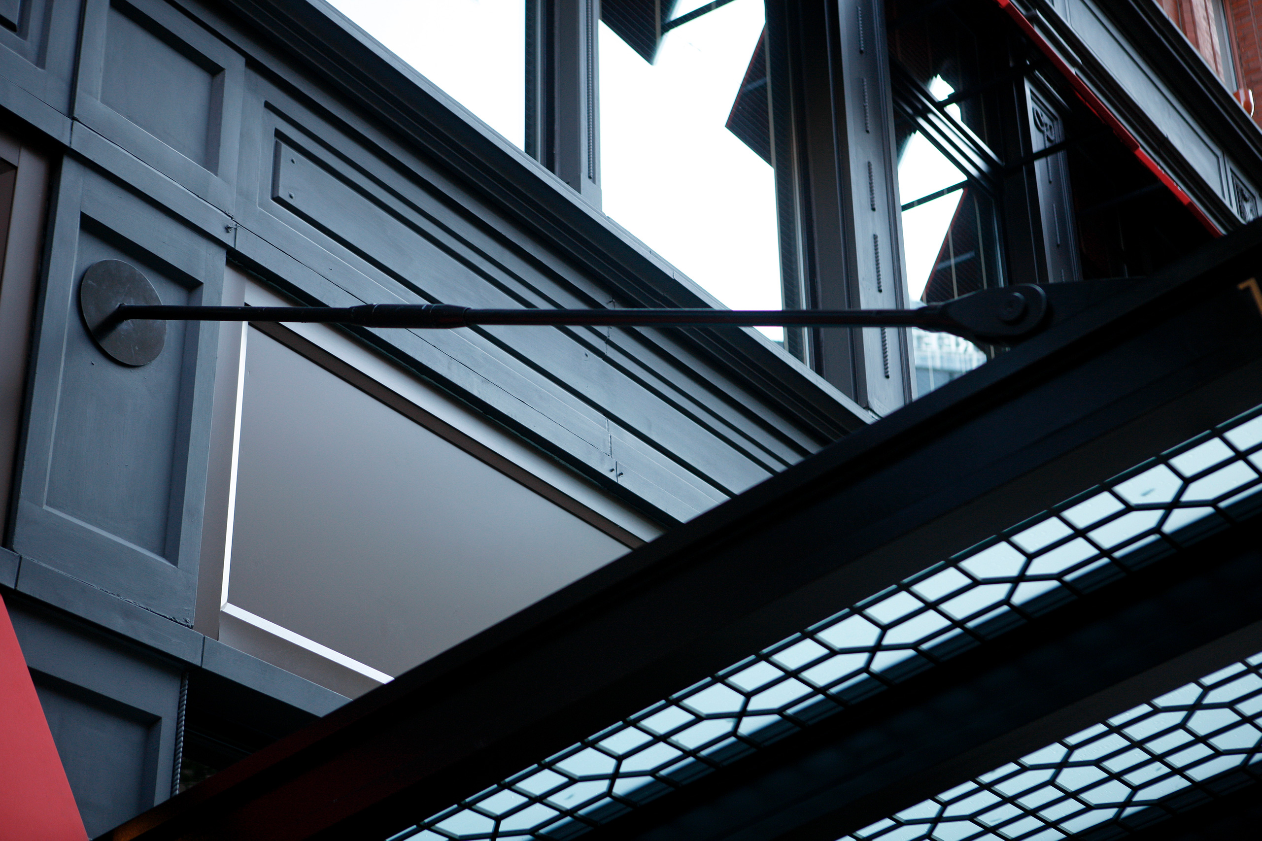 Detail of 101 Arch St, Boston, MA Portico – supported by Ronstan Carbon Steel Tension Rods