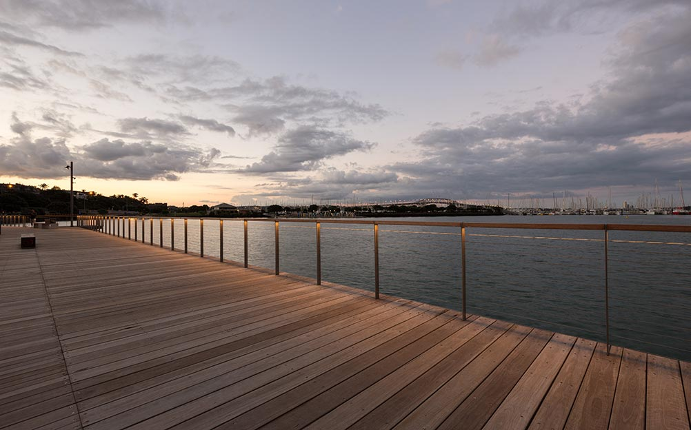 Ronstan supplied Marine Grade stainless steel cable, cable end-terminations and tensioners for the balustrade of The Westhaven Boardwalk in Auckland, NZ.