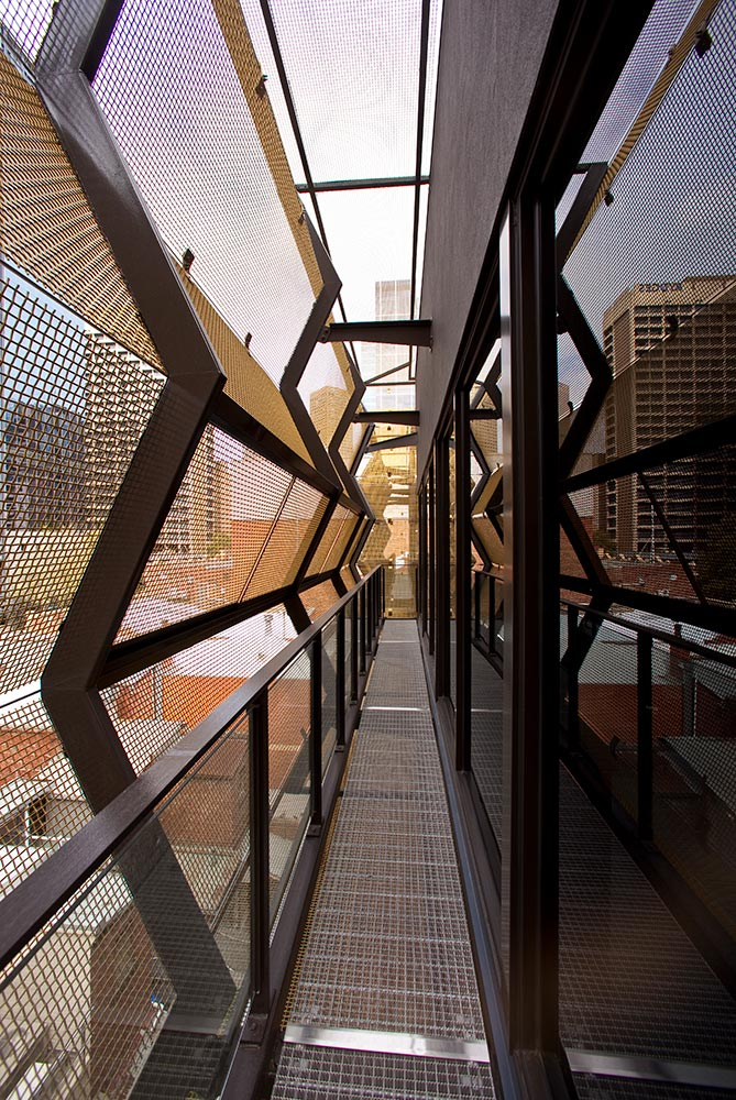 Lonsdale Street Architectural Facade designed to protect glazing