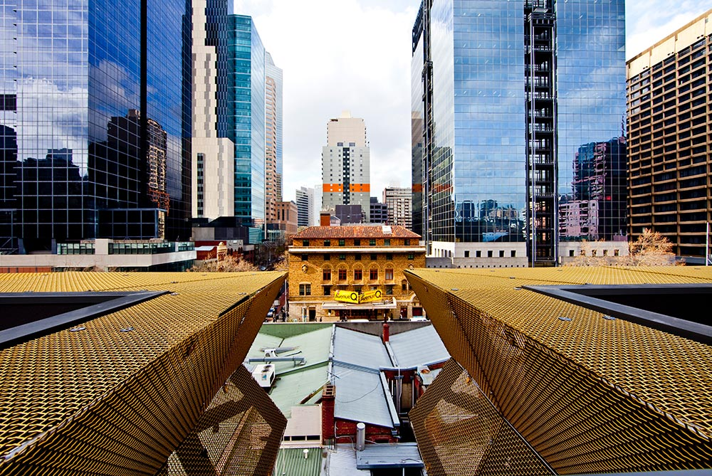 The view from over Lonsdale Street Architectural Facade