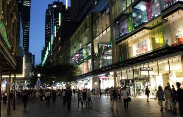 Pitt Street Mall Catenary Lighting - Ronstan Tensile Architecture
