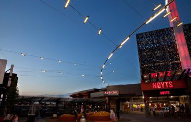 Watergardens Shopping Centre commercial outdoor catenary lighting design