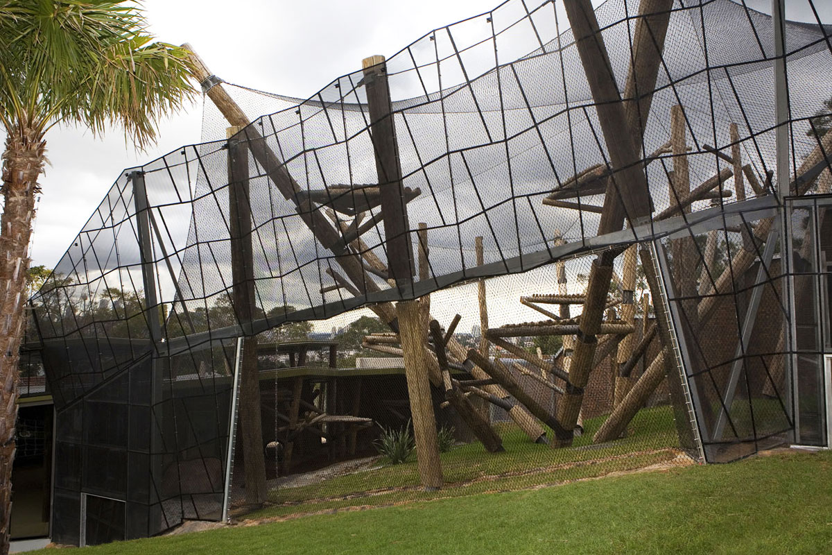 Taronga Zoo Award Winning Wire Mesh Chimpanzee Zoo Enclosure