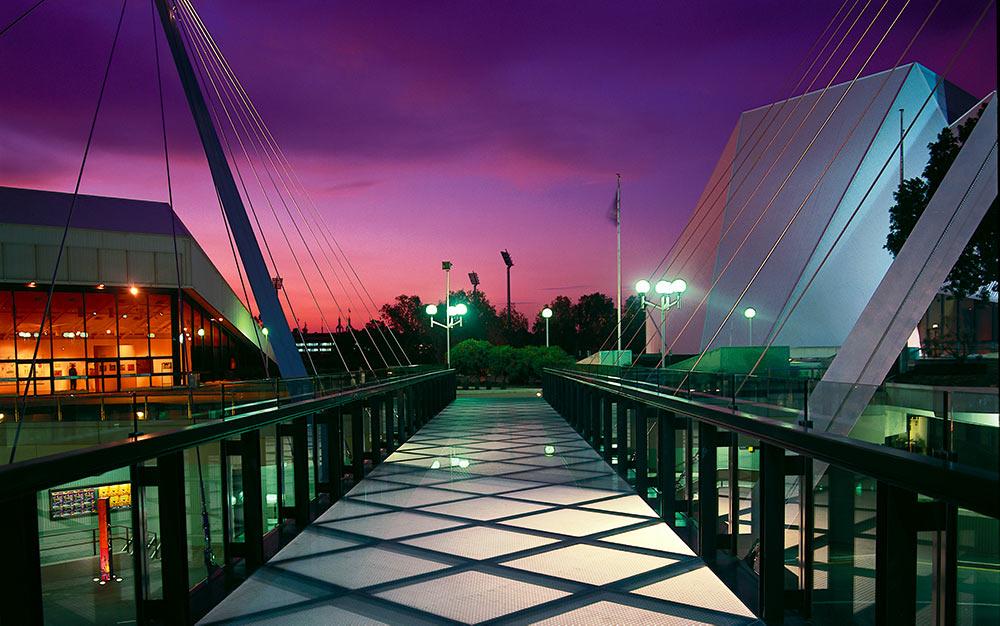 Adelaide's Festival Bridge; a pedestrian cable suspension bridge with Ronstan ACS2 Cables