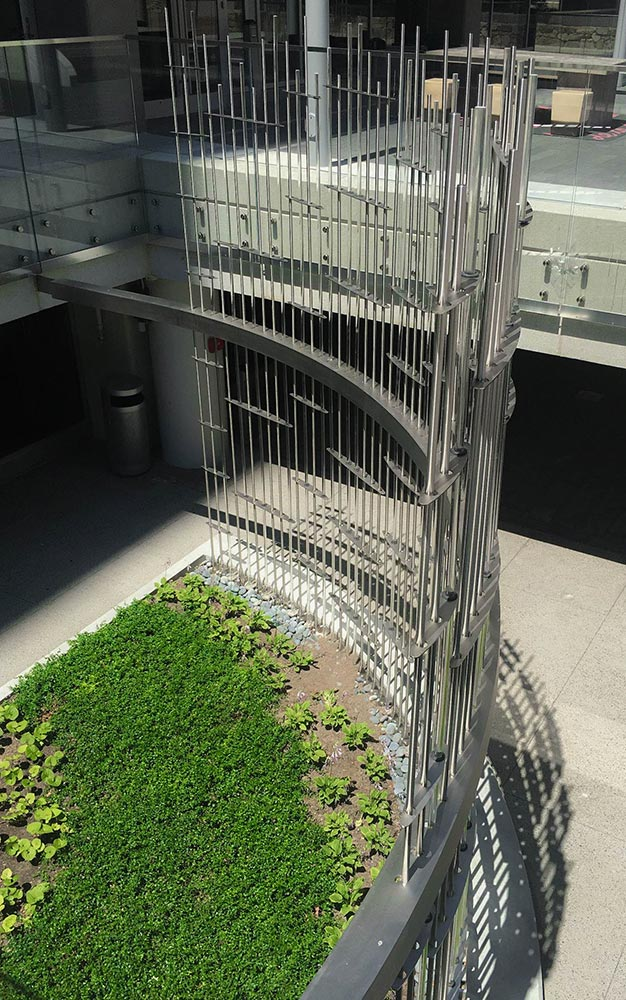 Ronstan Tensile Architecture supplied the stainless steel rods used to fabricate the Avalon Prudential Garden Sculpture