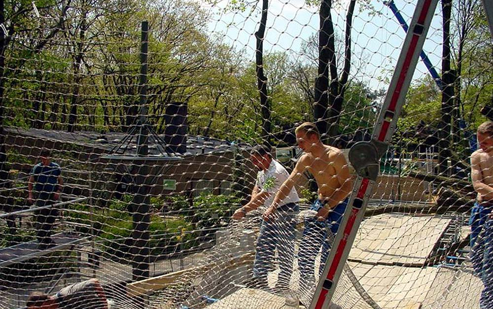 Burgers' Zoo stainless steel X-Tend mesh fence enclosure for leopards and jackals