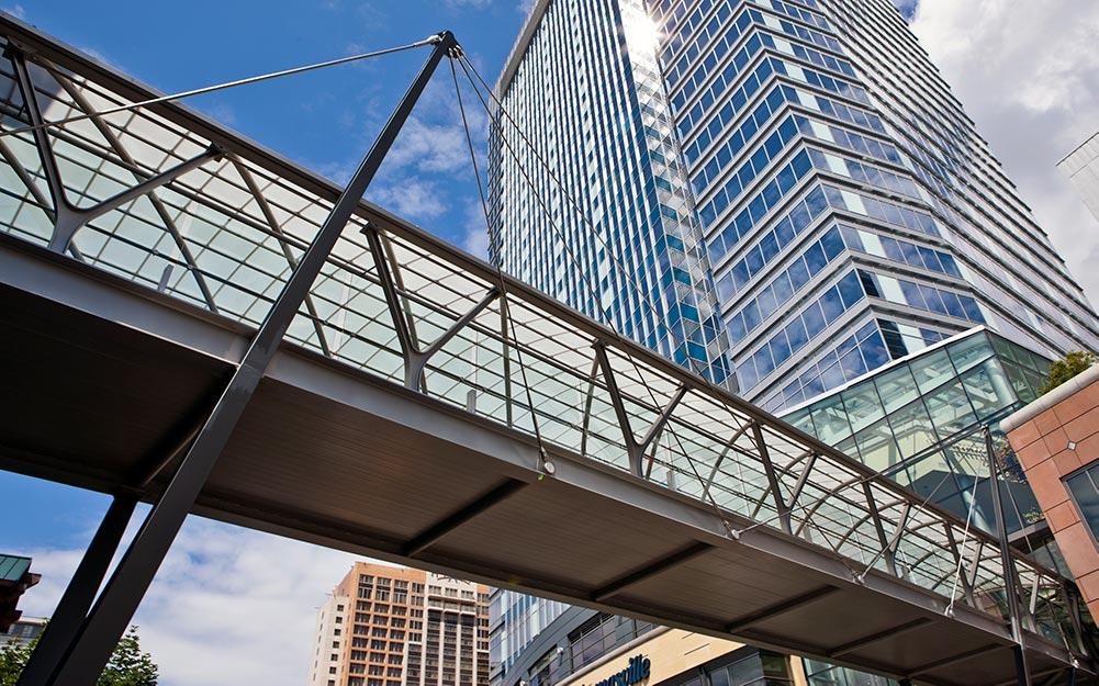 The Bellevue pedestrian cable stayed bridge