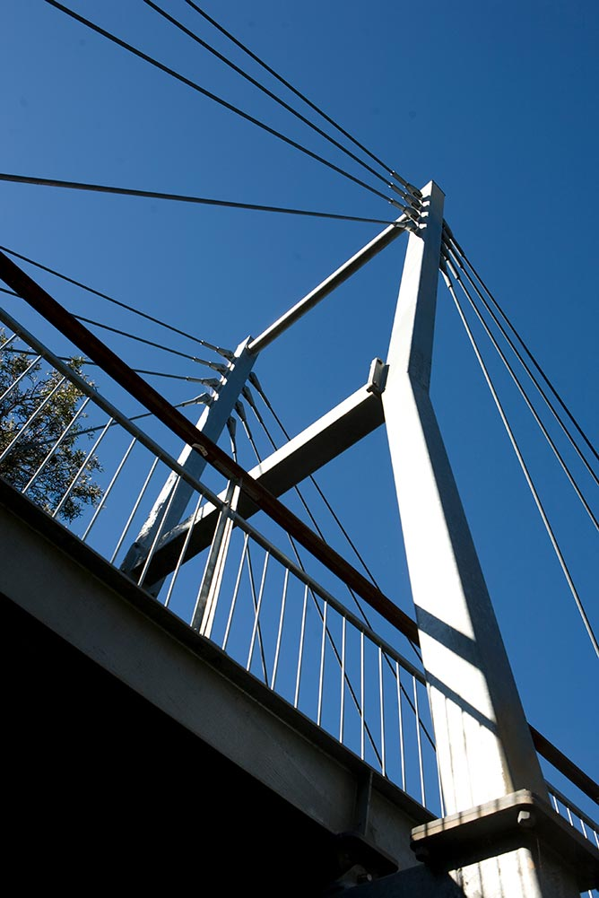 Berimba Cable Suspension Bridge from below by Ronstan Tensile Architecture