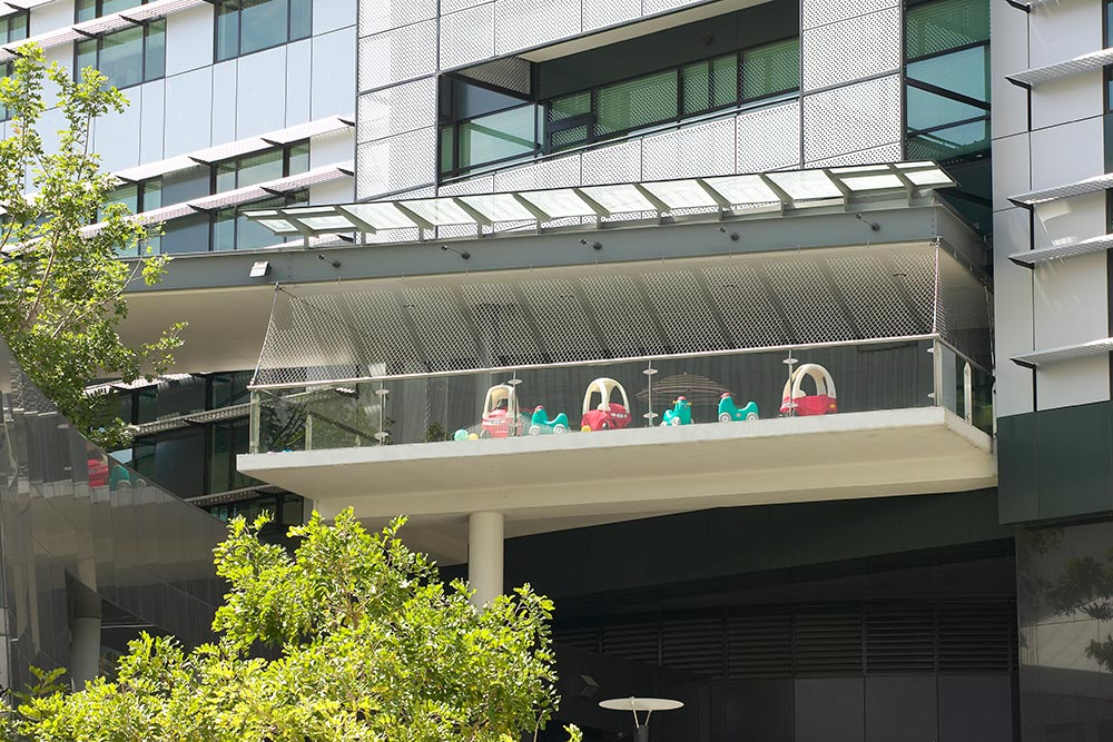 ABC Learning Centre in Brisbane using Carl Stahl X-TEND Mesh for security and fall protection