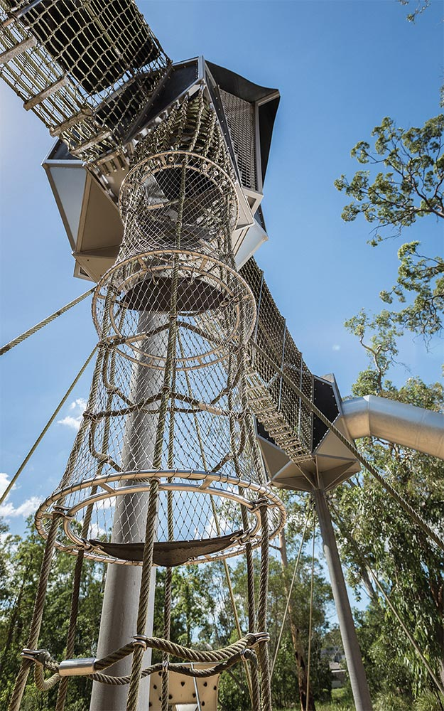 Calamvale District Adventure Park Safety Mesh and Fall Protection by Ronstan Tensile Architecture