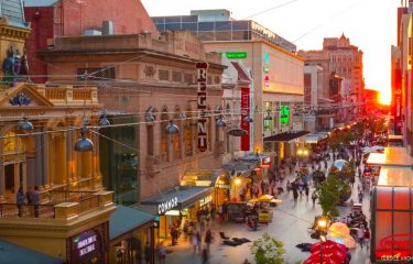 Rundle Mall Catenary Lighting