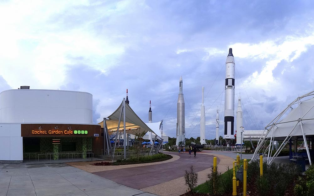 Ronstan Tensile Architecture recently helped launch a 10-year revitalization project of Kennedy Space Center by supplying Carbon Steel Rods for the new Rocket Garden Cafe. Photo: Volkan Yuksel