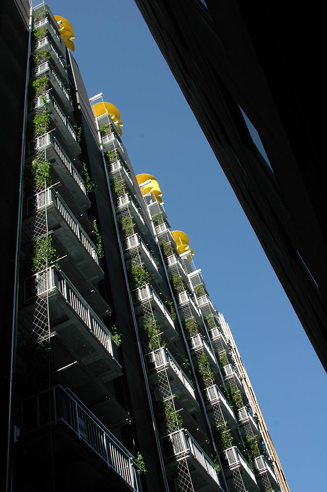 Ronstan Architectural was consulted for the detailed design, supply and installation of the stainless steel trellising systems and components to provide essential climbing structure for the plant life, and to transform the hard heat retaining surfaces into vibrant vertical gardens.