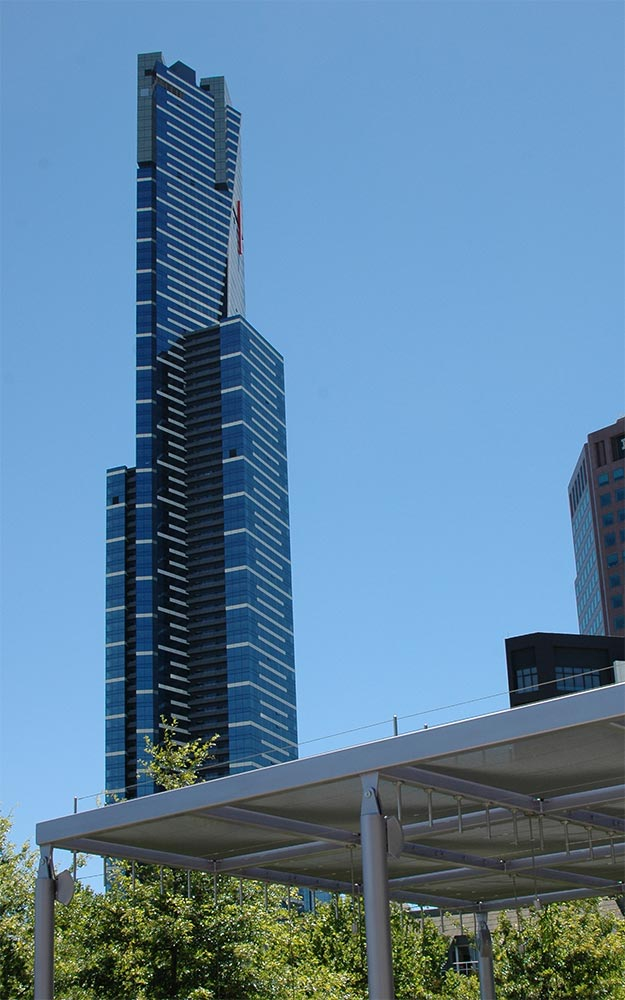 Eureka Tower Skydeck fall protection and safety barrier by Ronstan Tensile Architecture
